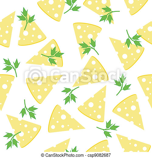 seamless background with cheese  - csp9082687