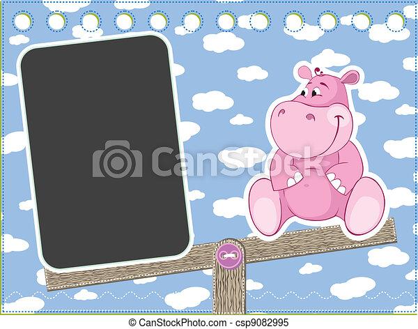 Hippo on the swing - csp9082995