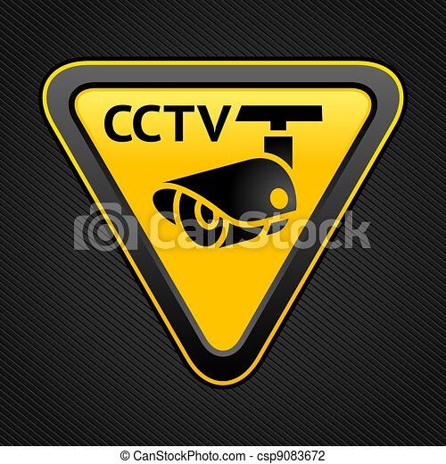 CCTV triangle sign - csp9083672