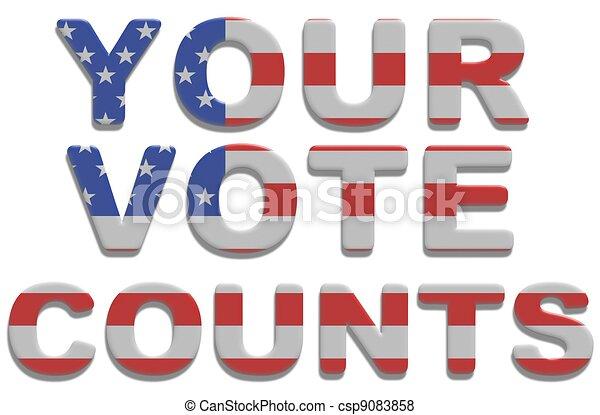 Your Vote Counts - csp9083858