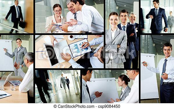 fonctionnement, jour, bureau - csp9084450