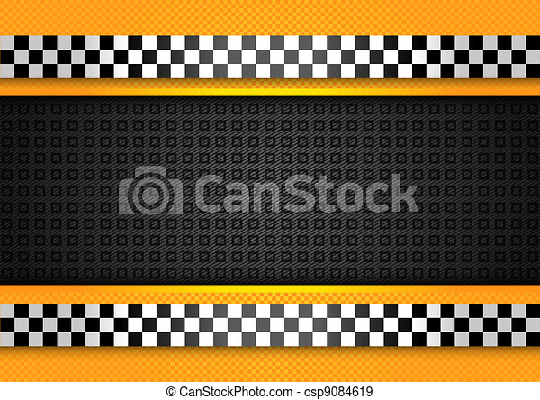 Taxi cab background, racing blank template - csp9084619