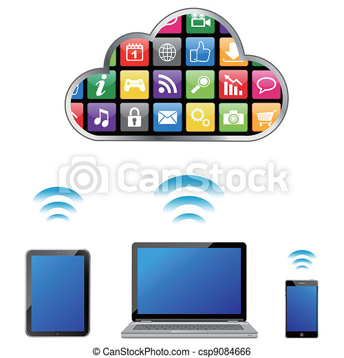 vector cloud computing concept - csp9084666