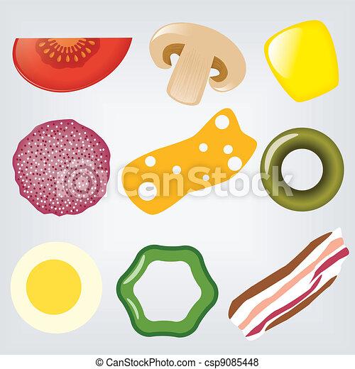 pizza ingredients - csp9085448