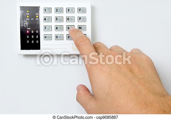 Home security alarm - csp9085887
