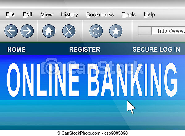 Online banking. - csp9085898