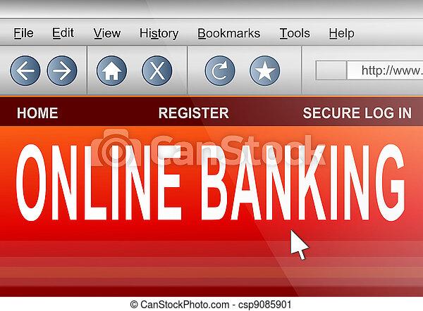 Online banking. - csp9085901