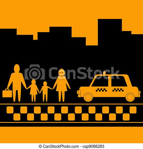 Dibujo de la familia urbana  Imagui