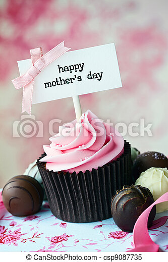 Mother's day cupcake - csp9087735