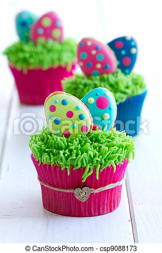 Easter cupcakes - csp9088173