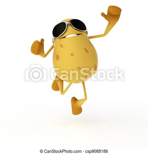 Food character - potato - csp9088186