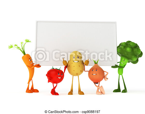 Funny food characters - csp9088197