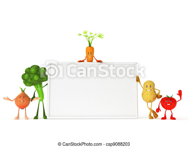Funny food characters - csp9088203