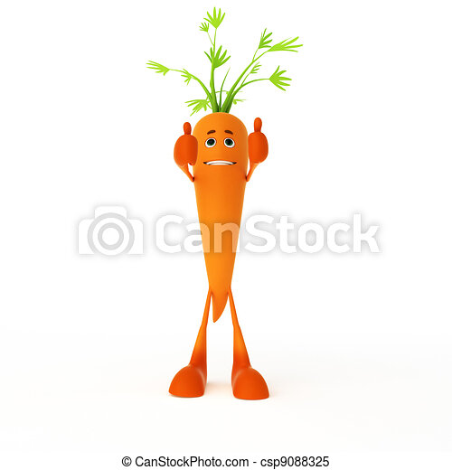 Food character - carrot - csp9088325
