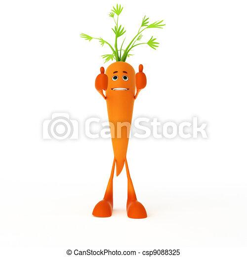 Food character - carrot - csp9088325