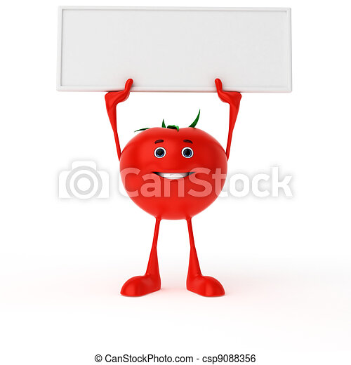 Food character - tomato - csp9088356