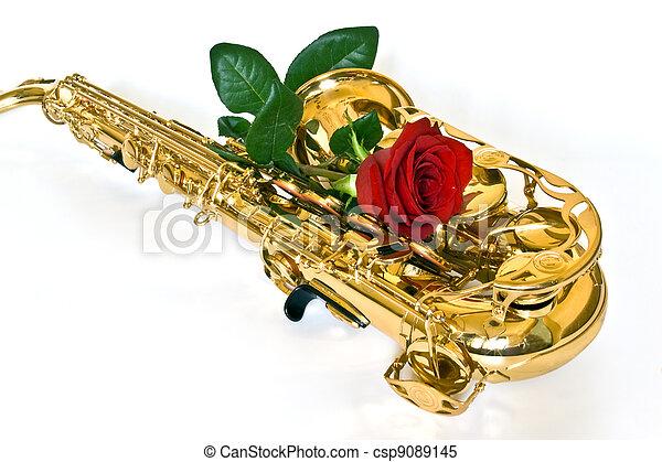sax and rose - csp9089145