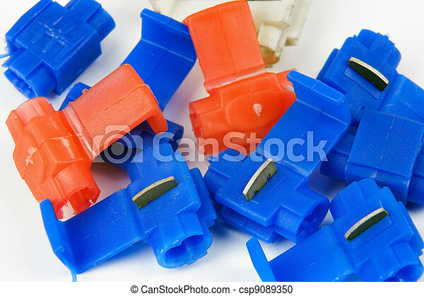 clamps of electrical car installation - csp9089350