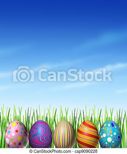 裝飾, 春天, 復活節 - csp9090228