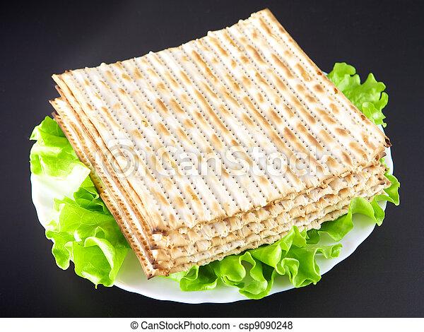 Jewish religious feast Passover traditional food Matza - csp9090248