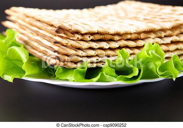 Jewish religious feast Passover traditional food Matza  - csp9090252