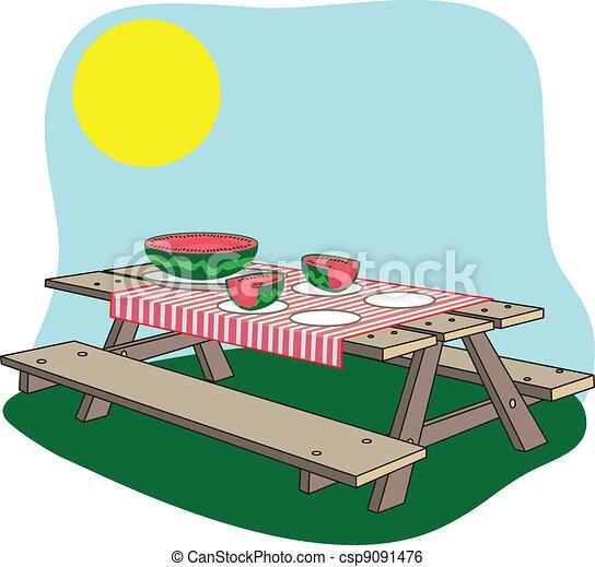 picnic bench - csp9091476