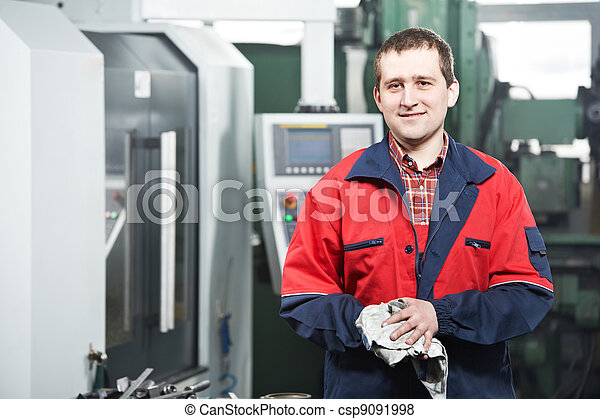 worker at tool workshop - csp9091998