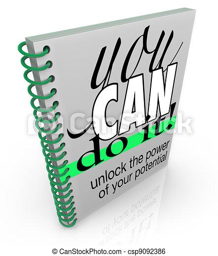 Self-Help You Can Do It Book Positive Attitude Confidence - csp9092386