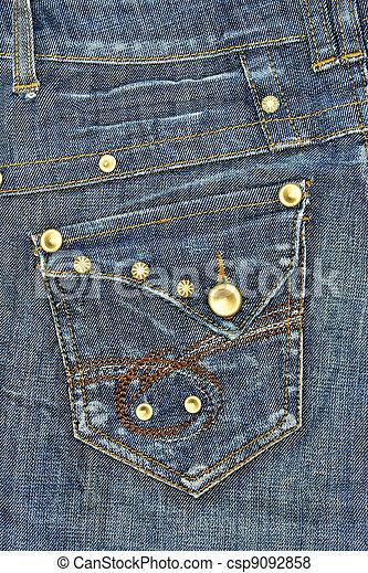 Blue jeans pocket  - csp9092858