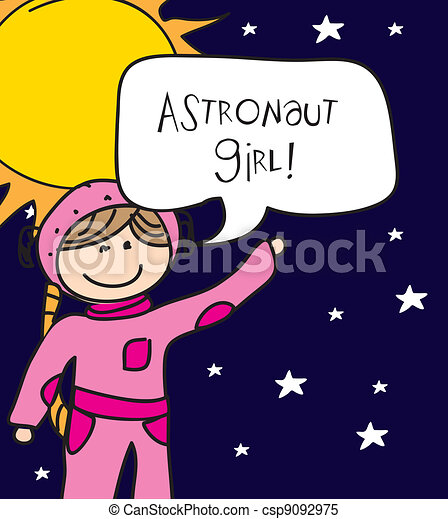 astronaut girl - csp9092975