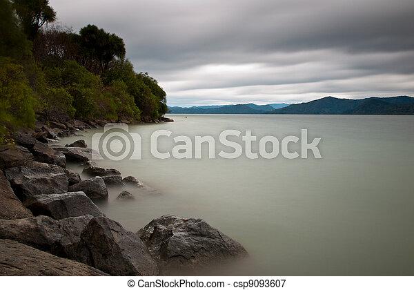 tranquil mountain lake - csp9093607