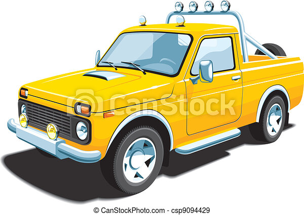 Yellow off-road vehicle - csp9094429
