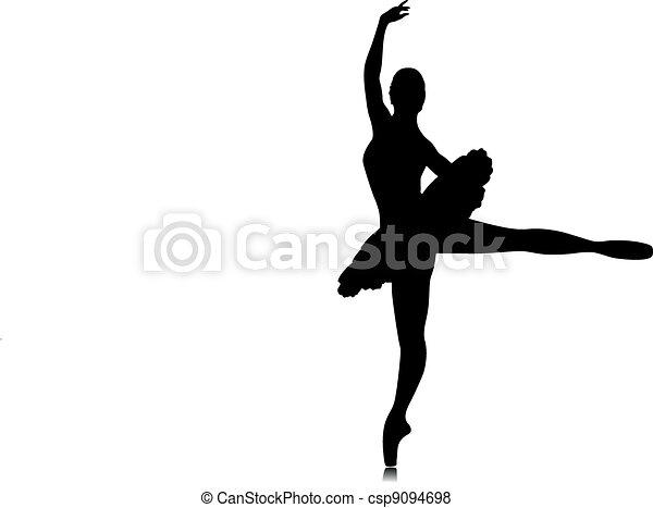 Ballet dancer silhouette - csp9094698