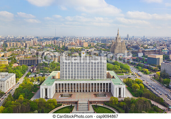 Building of Russian government in Moscow - csp9094867