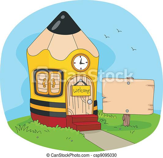 Pencil House - csp9095030