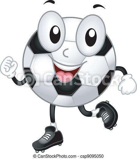 Soccer Ball Mascot - csp9095050