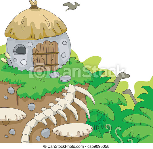 Prehistoric Scene - csp9095058