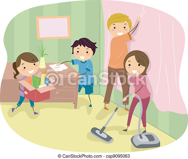 Clip Art Spring Cleaning Clipart spring cleaning stock illustrations 15677 clip illustration of a family doing some spring