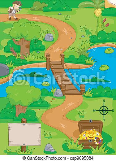Treasure Hunt Map - csp9095084