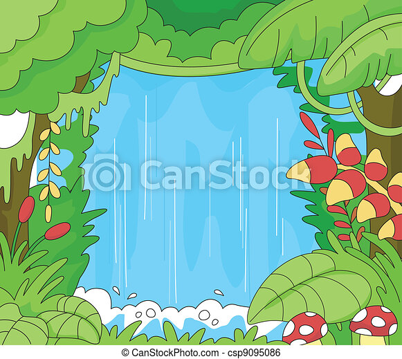Rainforest Scene - csp9095086