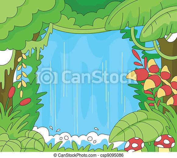 Rainforest Scene - csp9095086