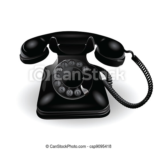 Retro Telephone - csp9095418