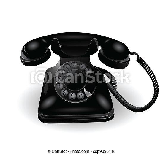 Retro Telephone - csp9095418