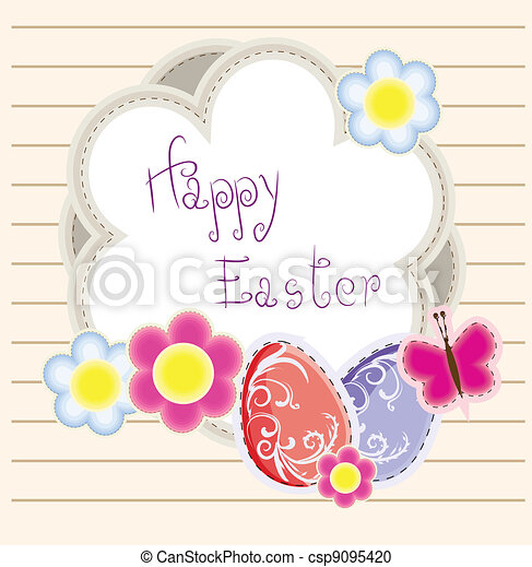Easter holiday vector background - csp9095420