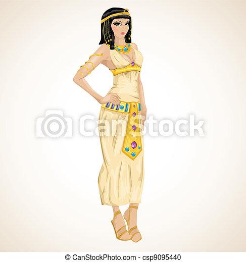 beautiful girl stylized into Cleopatra - csp9095440