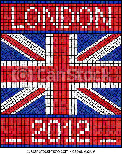 Vecteurs eps de londres 2012 mosa que londres 2012 t jeux ou csp9096269 - Dessiner le drapeau anglais ...
