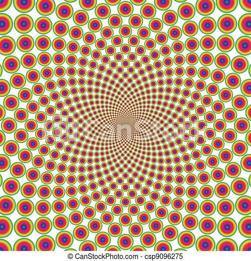 Vector ring optical illusion background (EPS) - csp9096275
