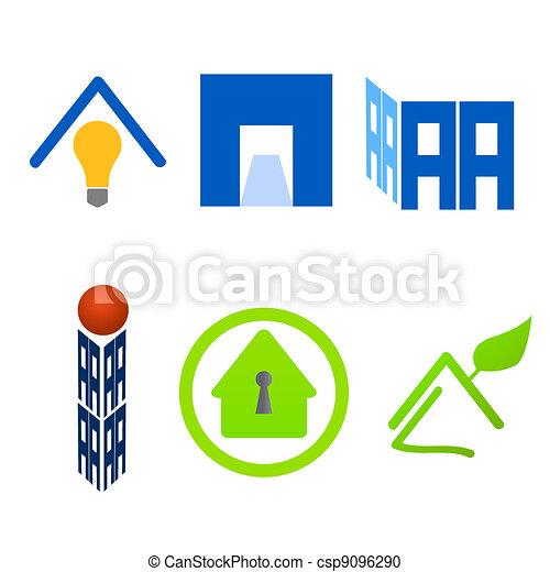 Real estate logo material set  - csp9096290