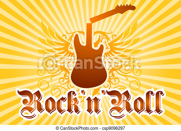 Rock and roll cool background - csp9096297