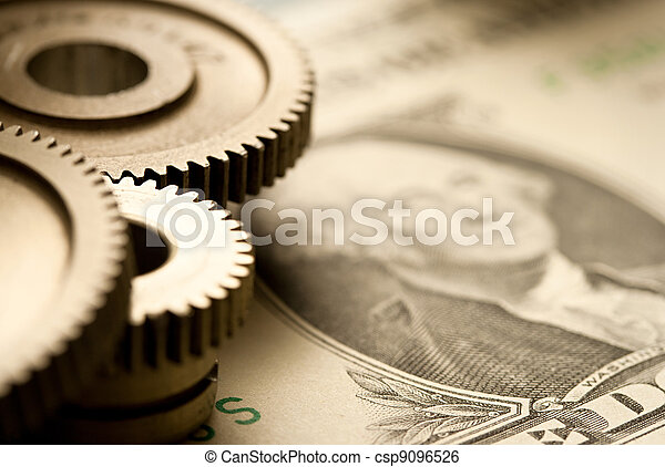 Mechanical ratchets and dollar - csp9096526